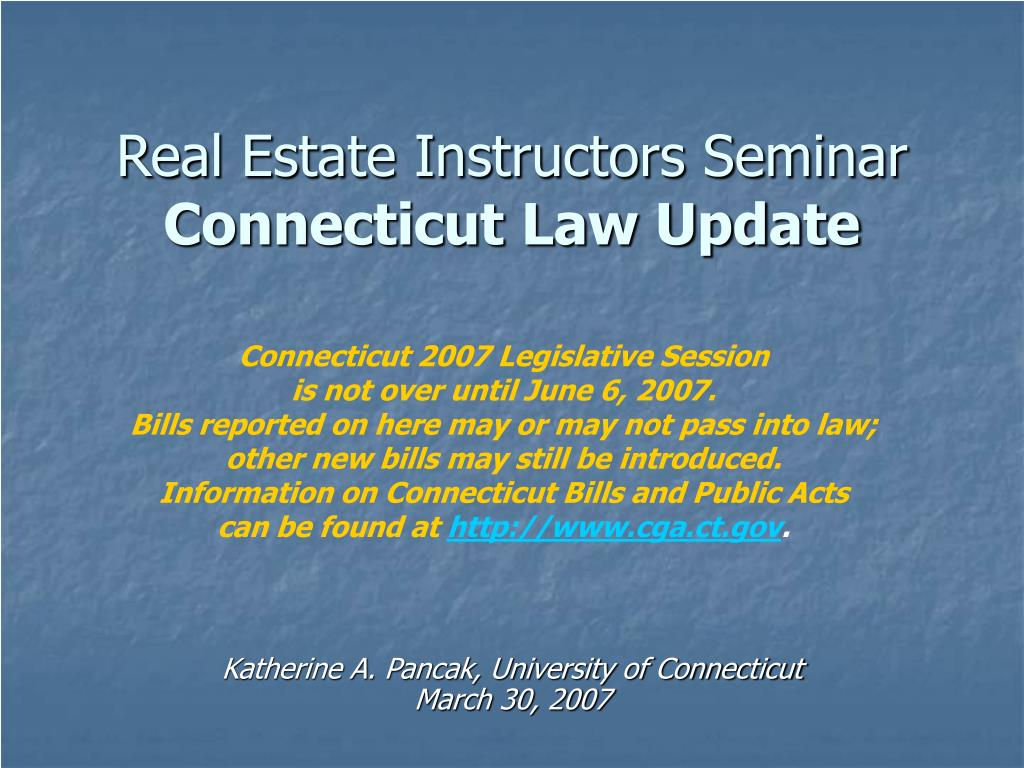 Real Estate Instructors Seminar