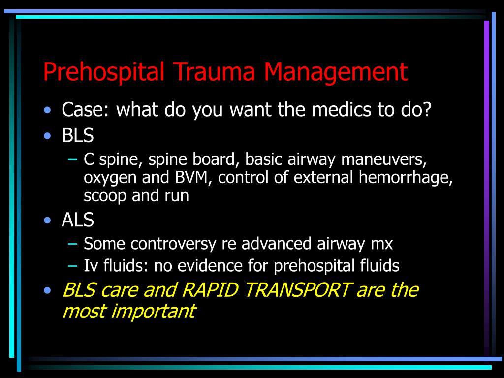 Prehospital Trauma Management