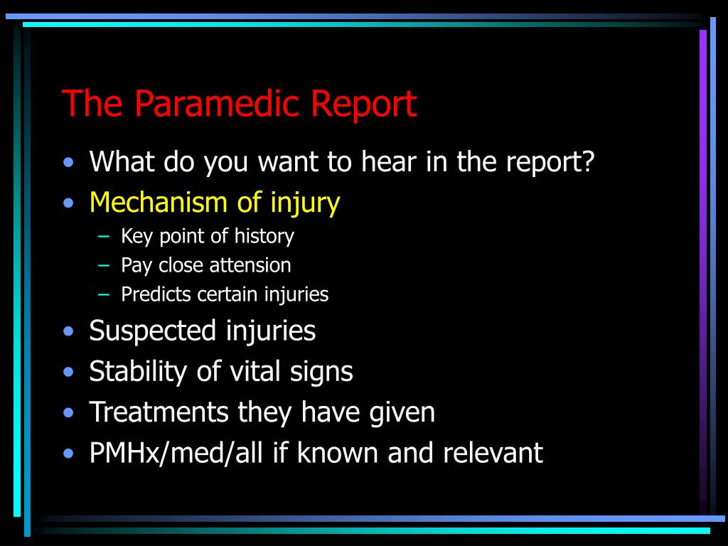 The Paramedic Report