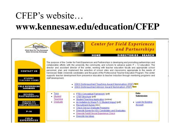 CFEP's website…