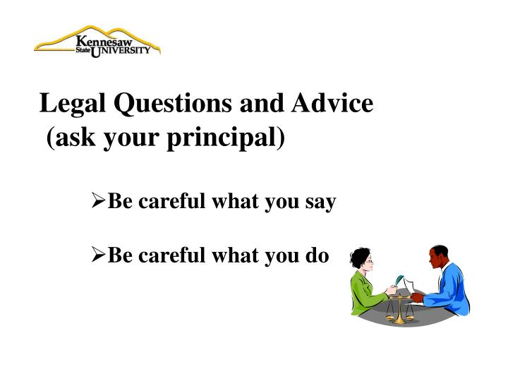 Legal Questions and Advice