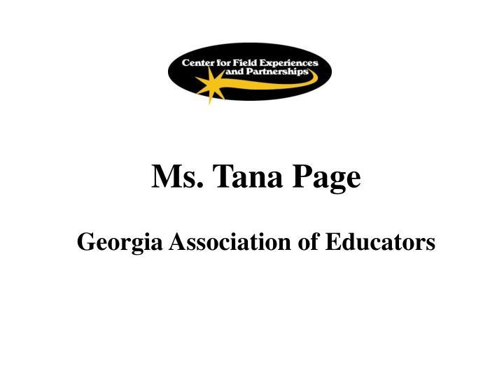 Ms. Tana Page
