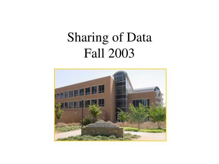 Sharing of Data