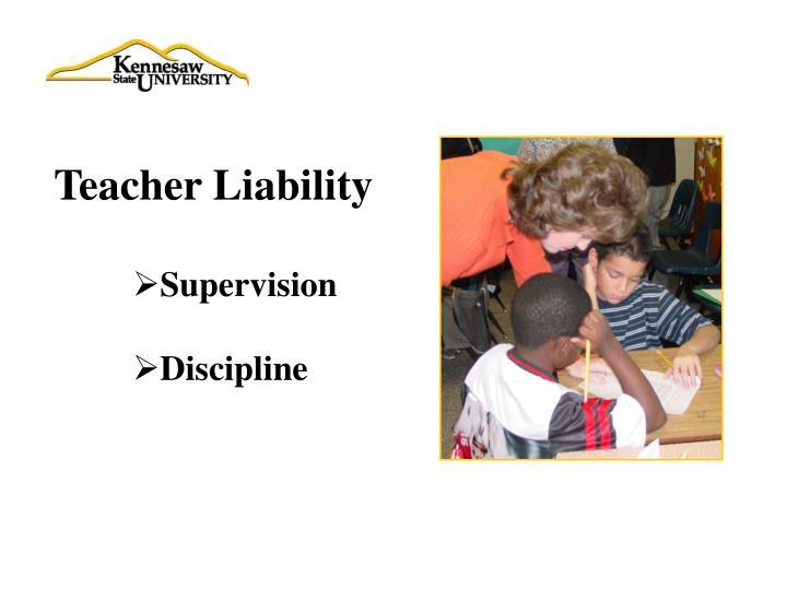 Teacher Liability