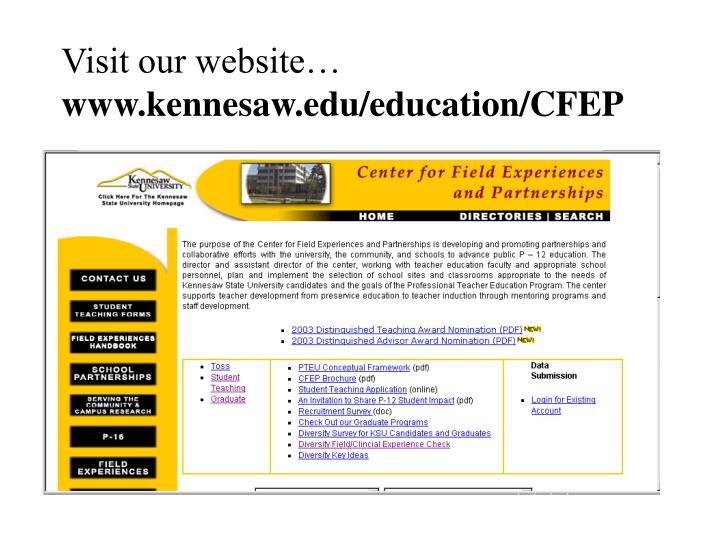Visit our website…