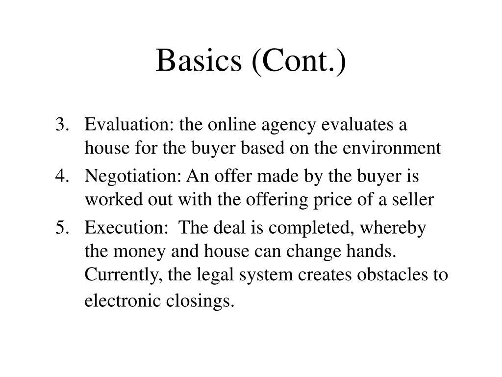 Basics (Cont.)