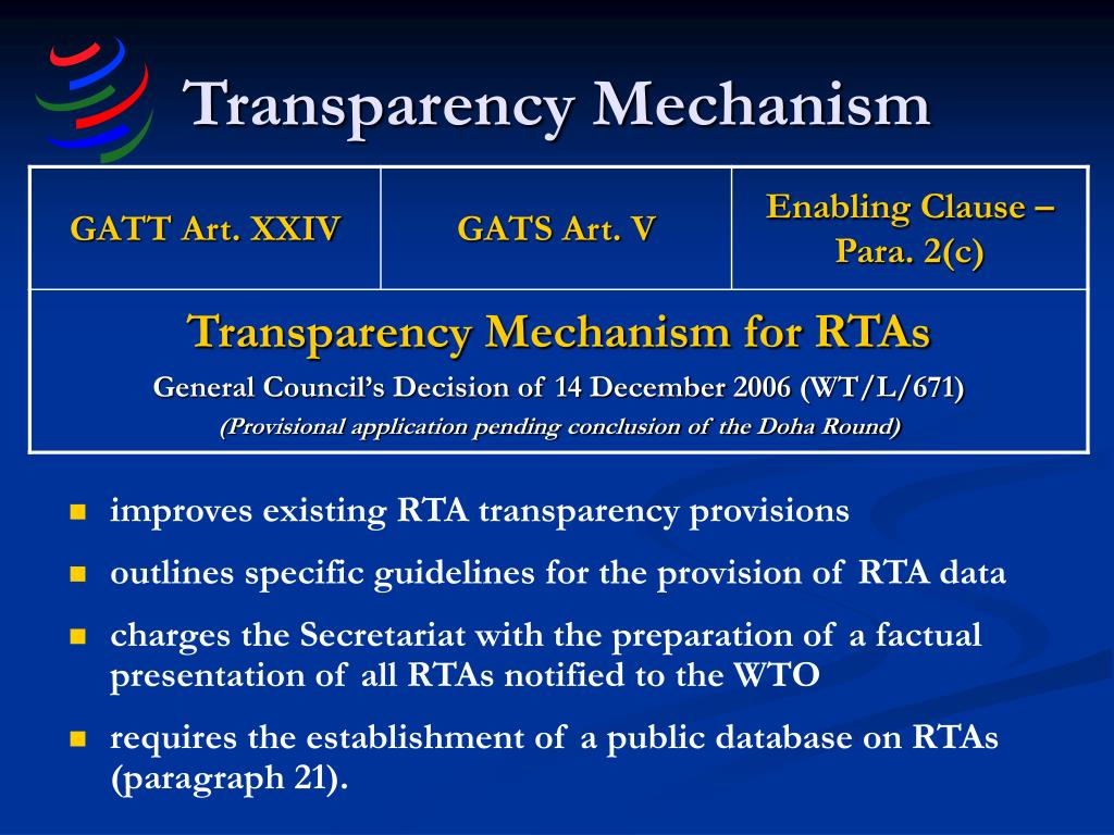 Transparency Mechanism