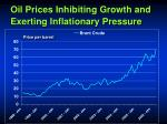 oil prices inhibiting growth and exerting inflationary pressure