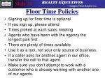 floor time policies
