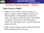 getting things going habits