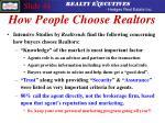 how people choose realtors