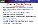 how to get referrals according to realtrends research