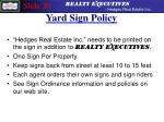 yard sign policy