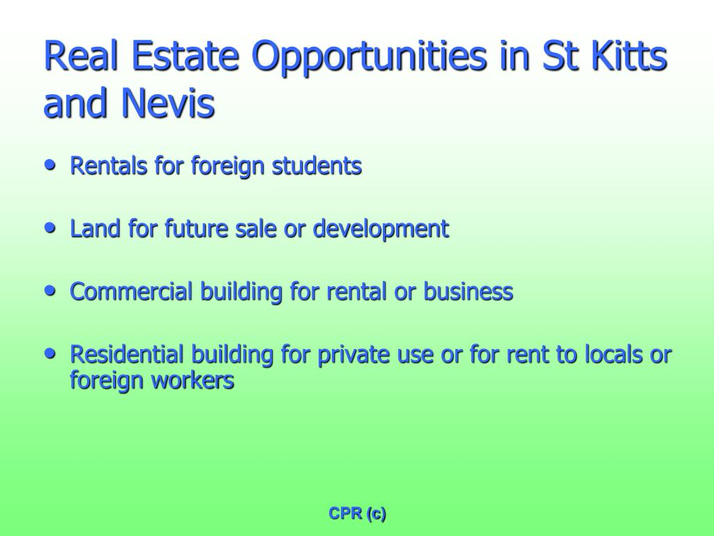 Real Estate Opportunities in St Kitts and Nevis