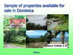 sample of properties available for sale in dominica