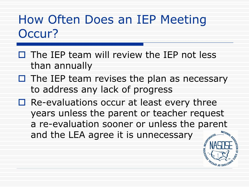 How Often Does an IEP Meeting Occur?