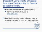 important components of special education that are key to general education con t