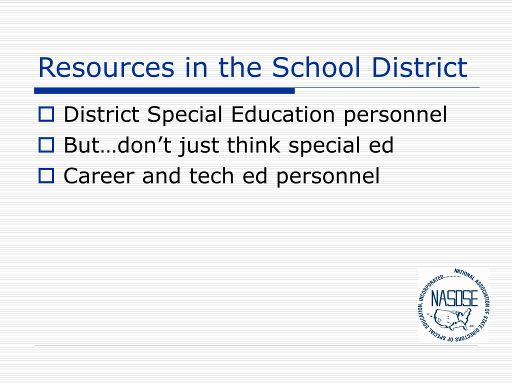 Resources in the School District