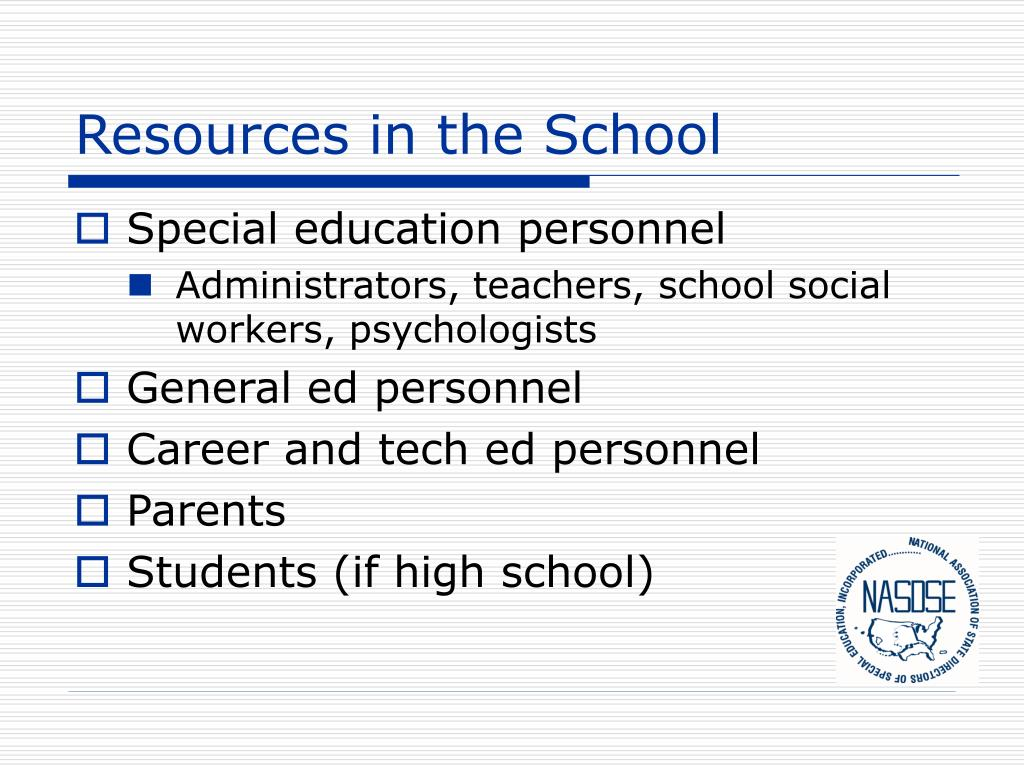 Resources in the School