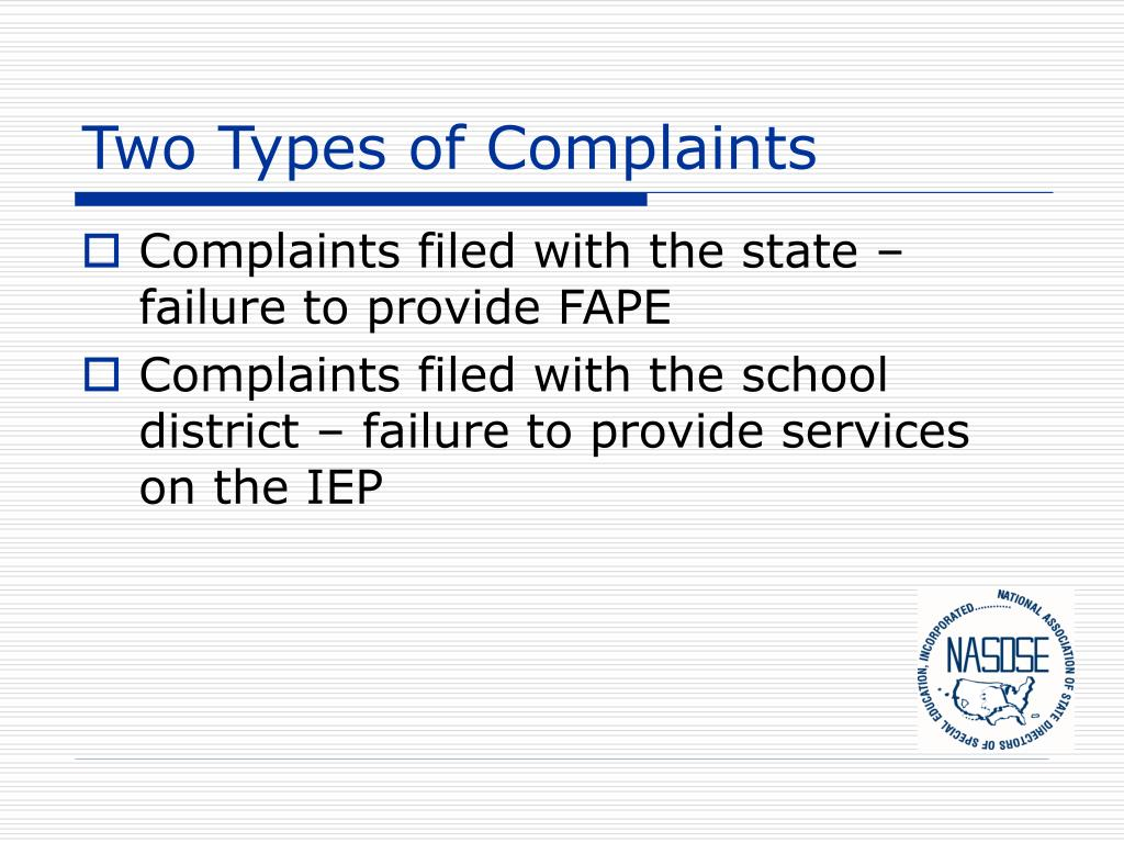 Two Types of Complaints