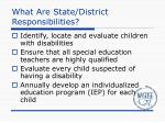 what are state district responsibilities