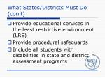 what states districts must do con t