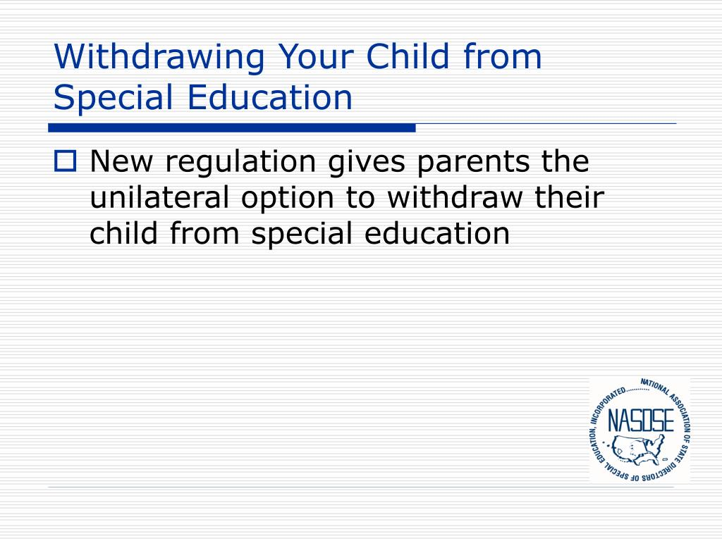 Withdrawing Your Child from Special Education