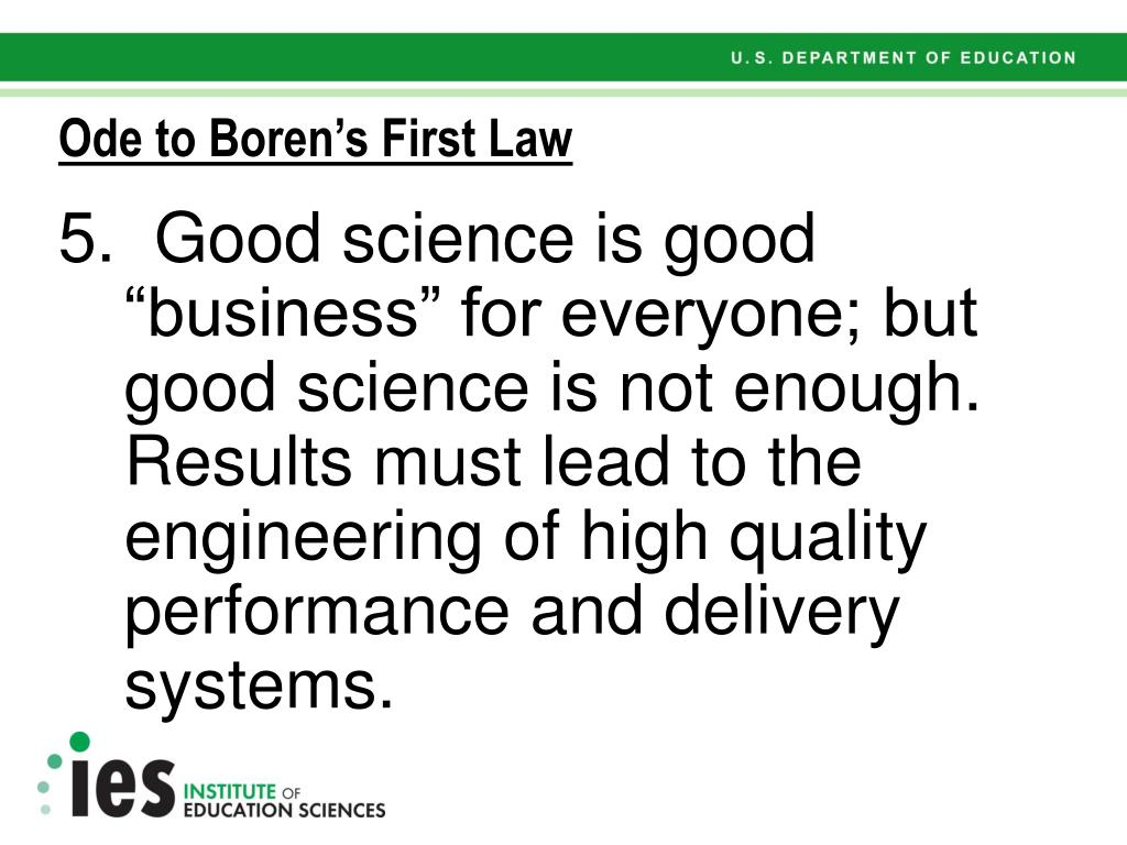 Ode to Boren's First Law