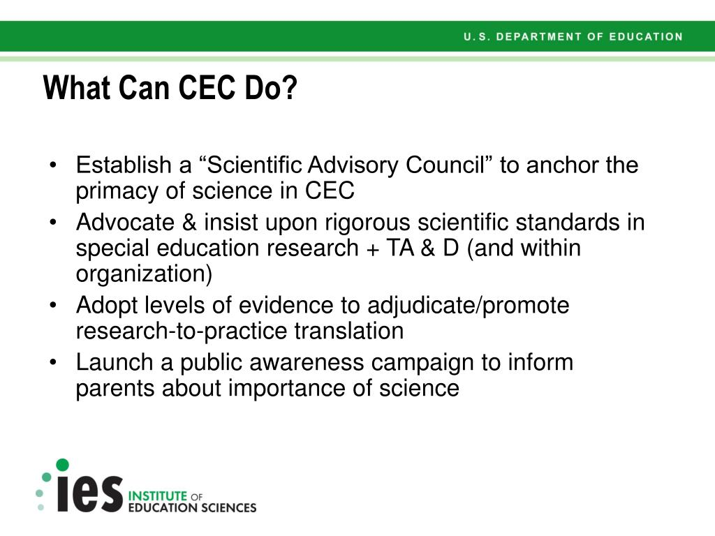 What Can CEC Do?