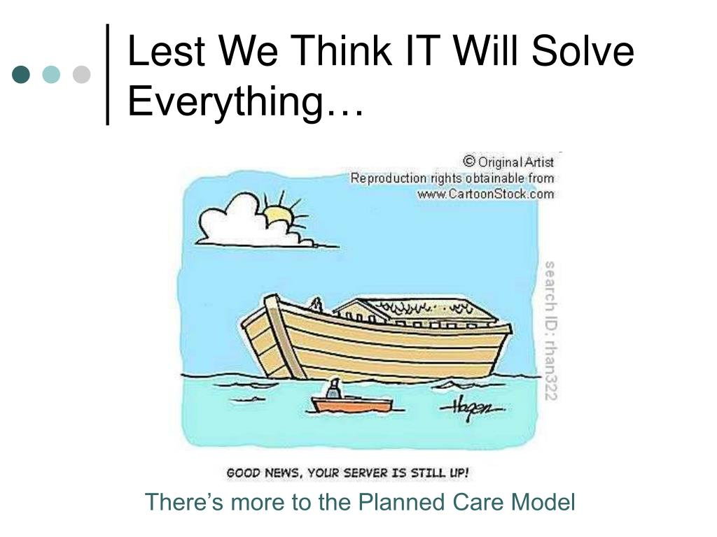 Lest We Think IT Will Solve Everything…