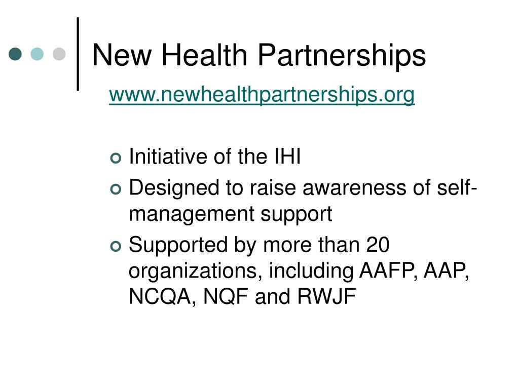 New Health Partnerships