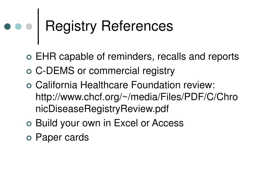 Registry References