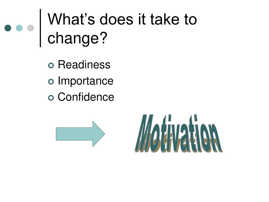 What's does it take to change?