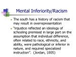 mental inferiority racism