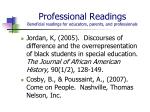 professional readings beneficial readings for educators parents and professionals