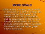 more goals