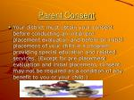 parent consent
