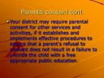 parental consent cont