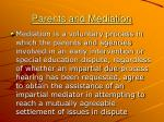 parents and mediation