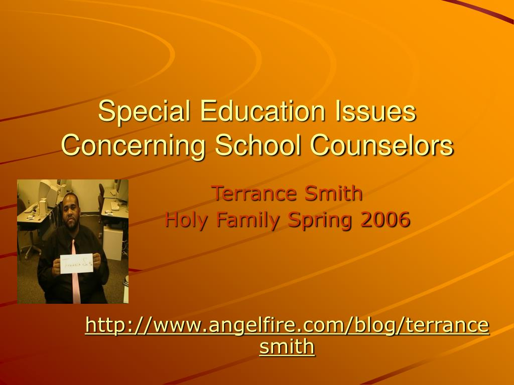 special education issues concerning school counselors l.