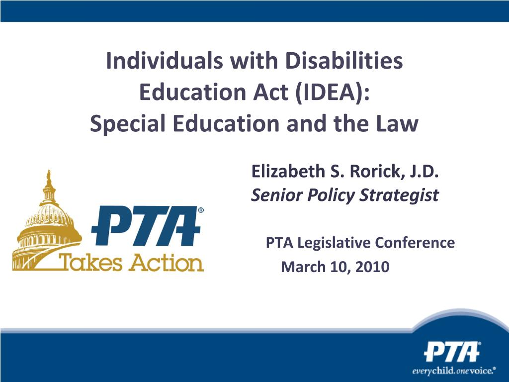individuals with disabilities education act idea special education and the law l.
