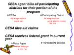 cesa agent bills all participating districts for their portion of the program