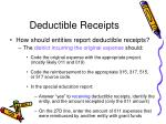 deductible receipts77