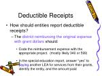 deductible receipts78