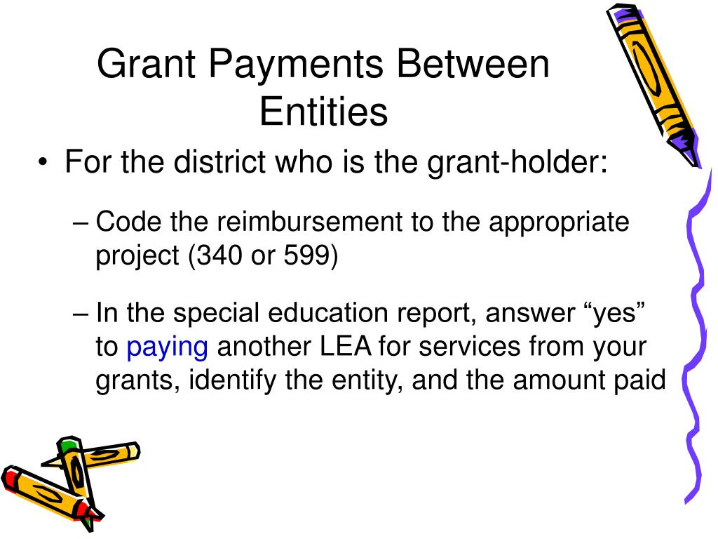 Grant Payments Between Entities