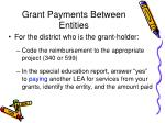 grant payments between entities71
