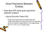 grant payments between entities72