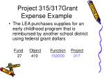 project 315 317grant expense example