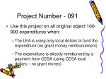 project number 091