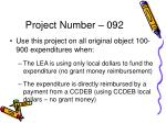 project number 092
